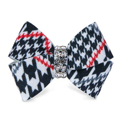 Glen Houndstooth Single Nouveau Bow Hair Bow