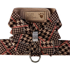 Chocolate Glen Houndstooth Nouveau Bow Tinkie Harness