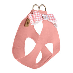 Peaches N Cream Houndstooth Big Bow Step In Harness