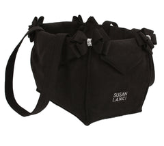 Black Double Nouveau Bow Luxury Carrier