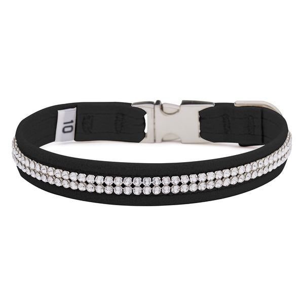 Black 2 Row Giltmore Perfect Fit Collar