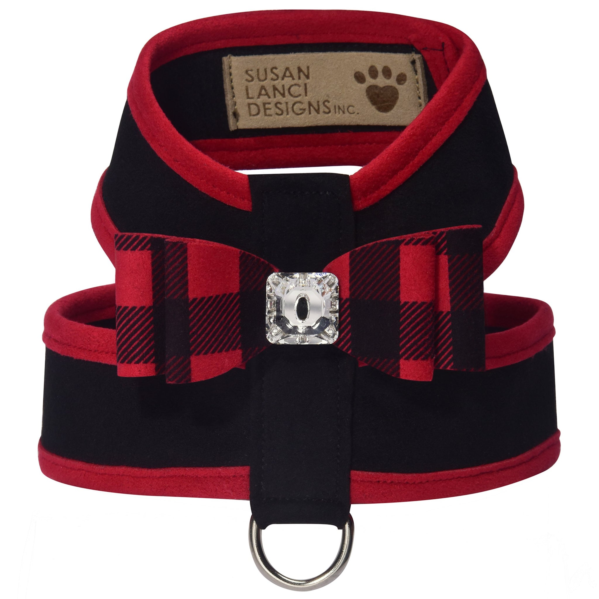 Red Gingham Big Bow Tinkie Harness