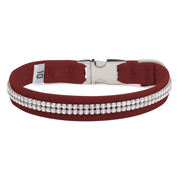 Burgundy 2 Row Giltmore Perfect Fit Collar