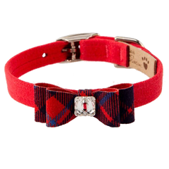 Scotty Collar Chestnut Plaid Big Bow