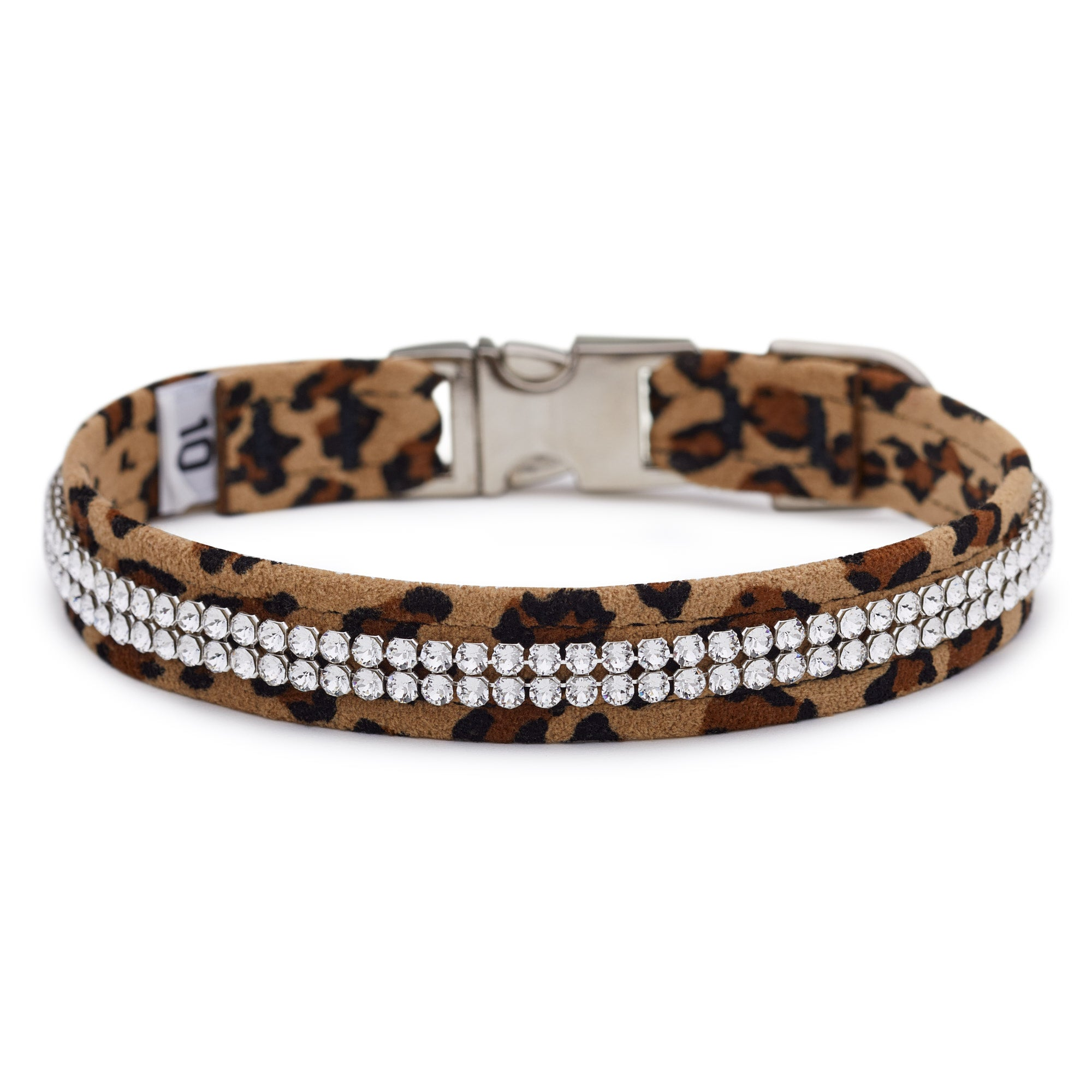 Cheetah 2 Row Giltmore Perfect Fit Collar