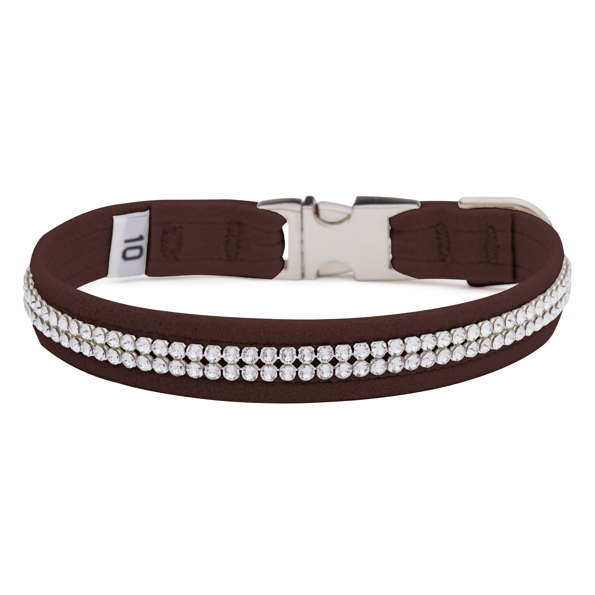 Chocolate 2 Row Giltmore Perfect Fit Collar