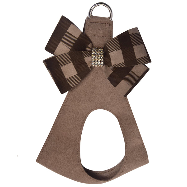 Fawn Gingham Nouveau Bow Step In Harness