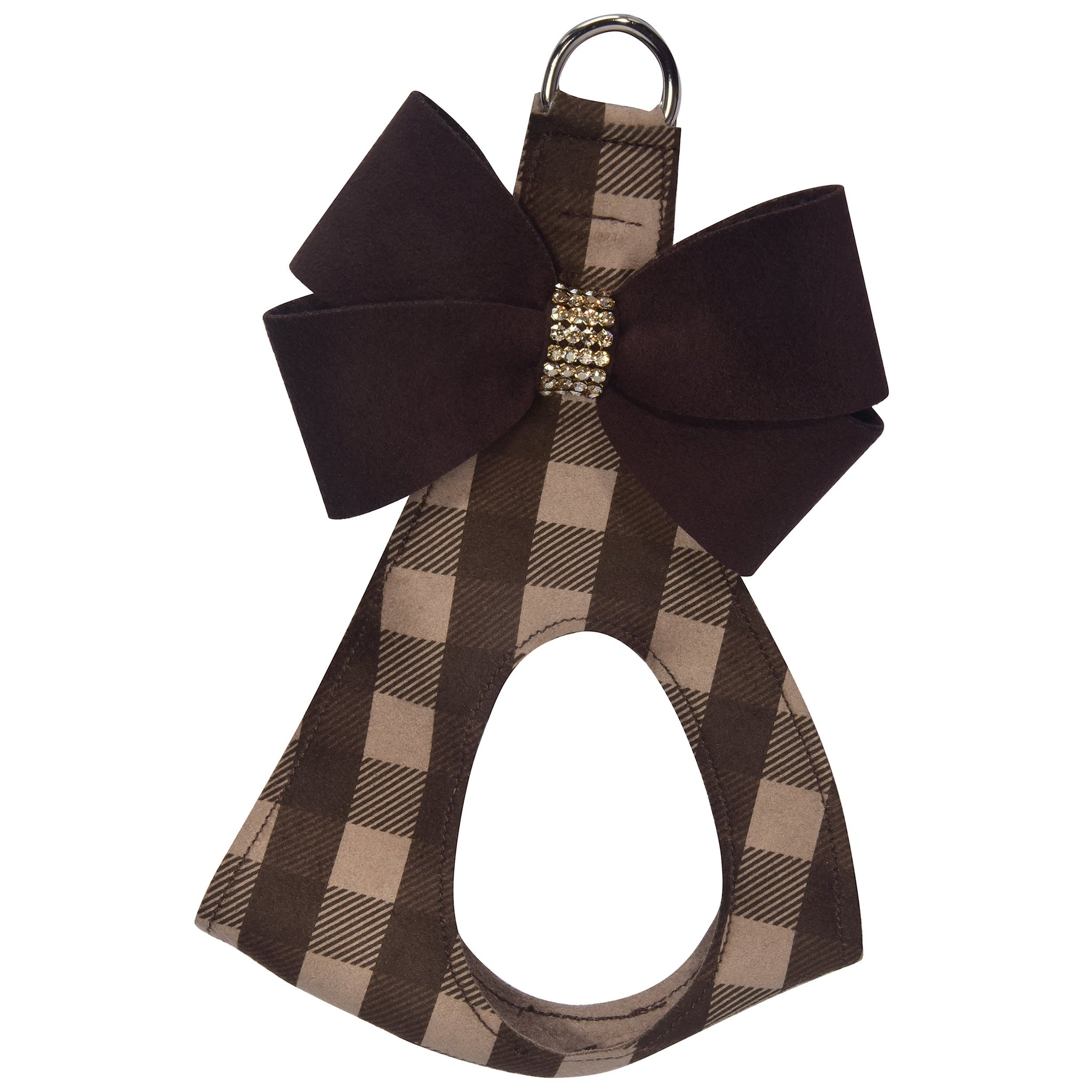Nouveau Bow Fawn Gingham Step In Harness