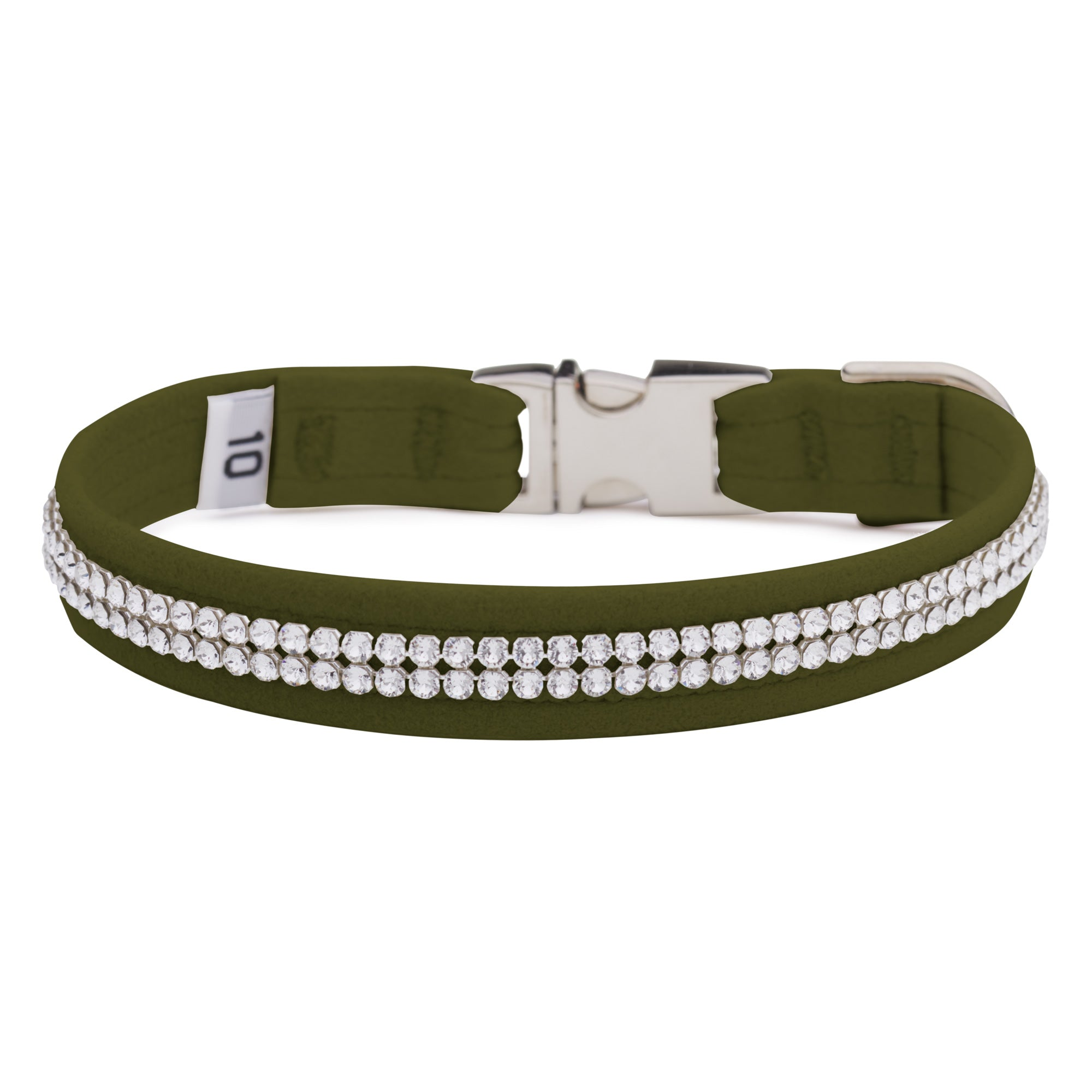 Olive 2 Row Giltmore Perfect Fit Collar
