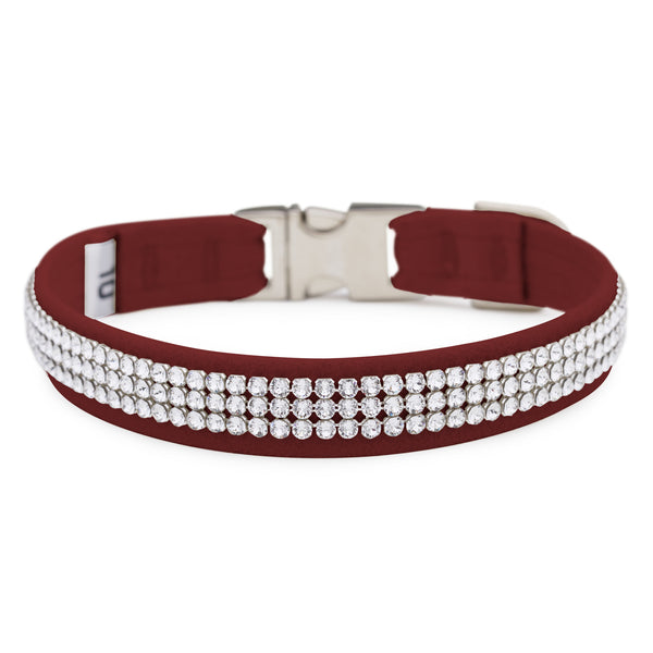 Burgundy 3 Row Giltmore Perfect Fit Collar