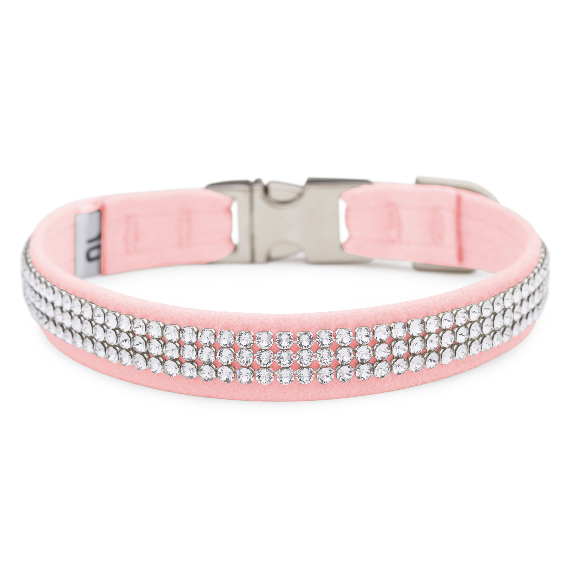 Puppy Pink 3 Row Giltmore Perfect Fit Collar