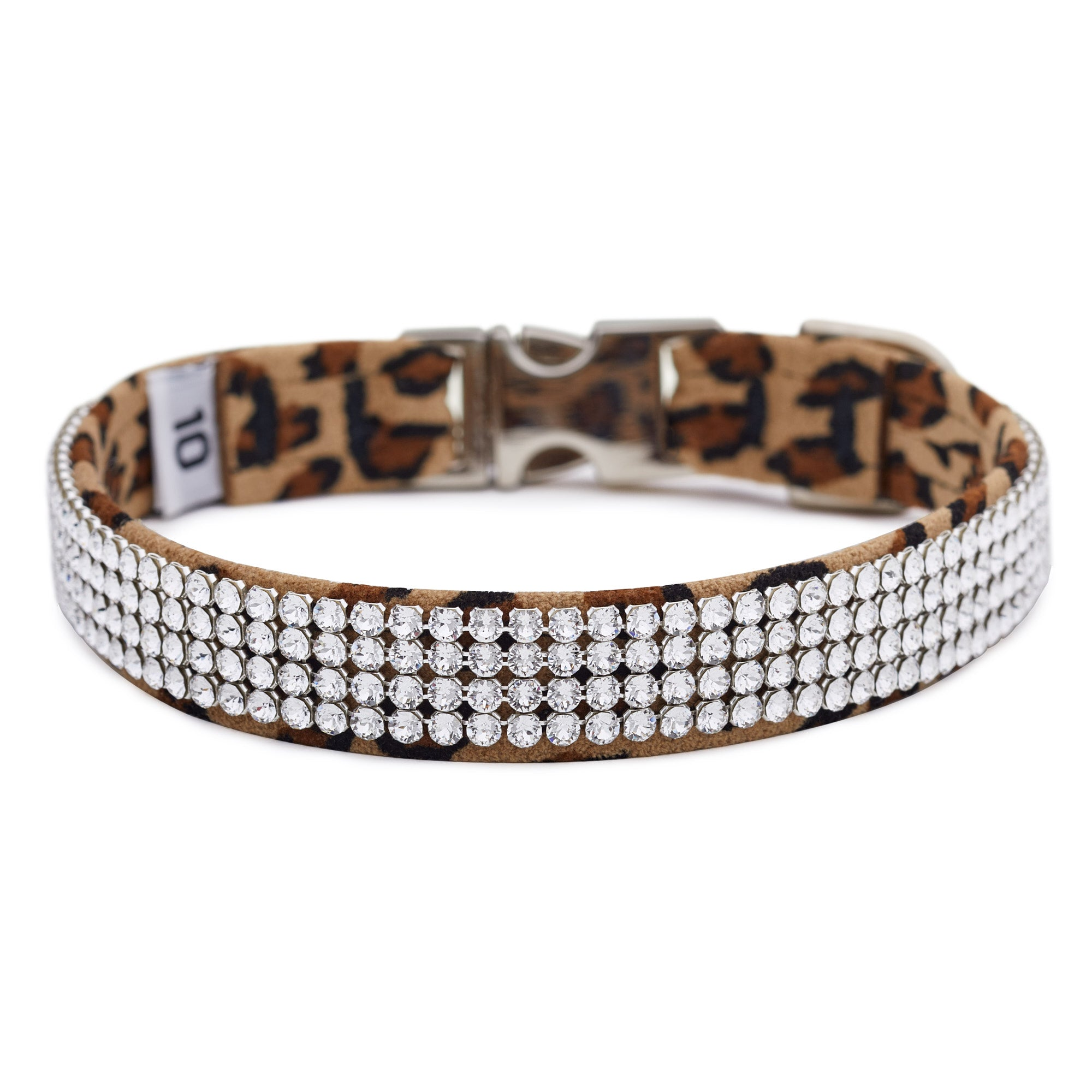 Cheetah 4 Row Giltmore Perfect Fit Collar