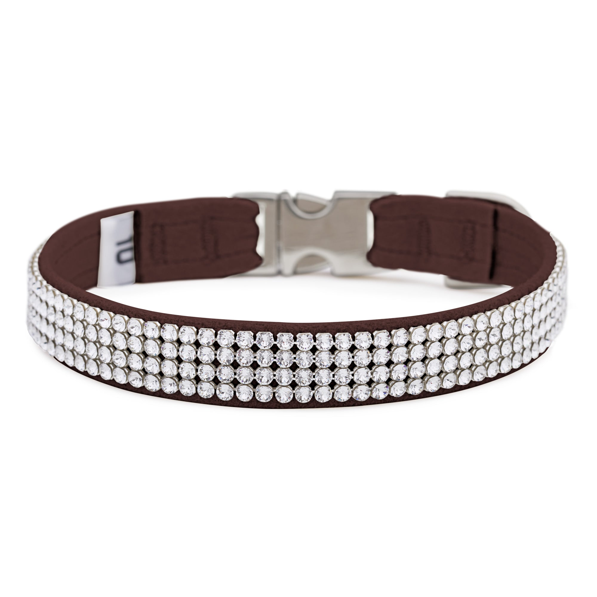 Chocolate 4 Row Giltmore Perfect Fit Collar