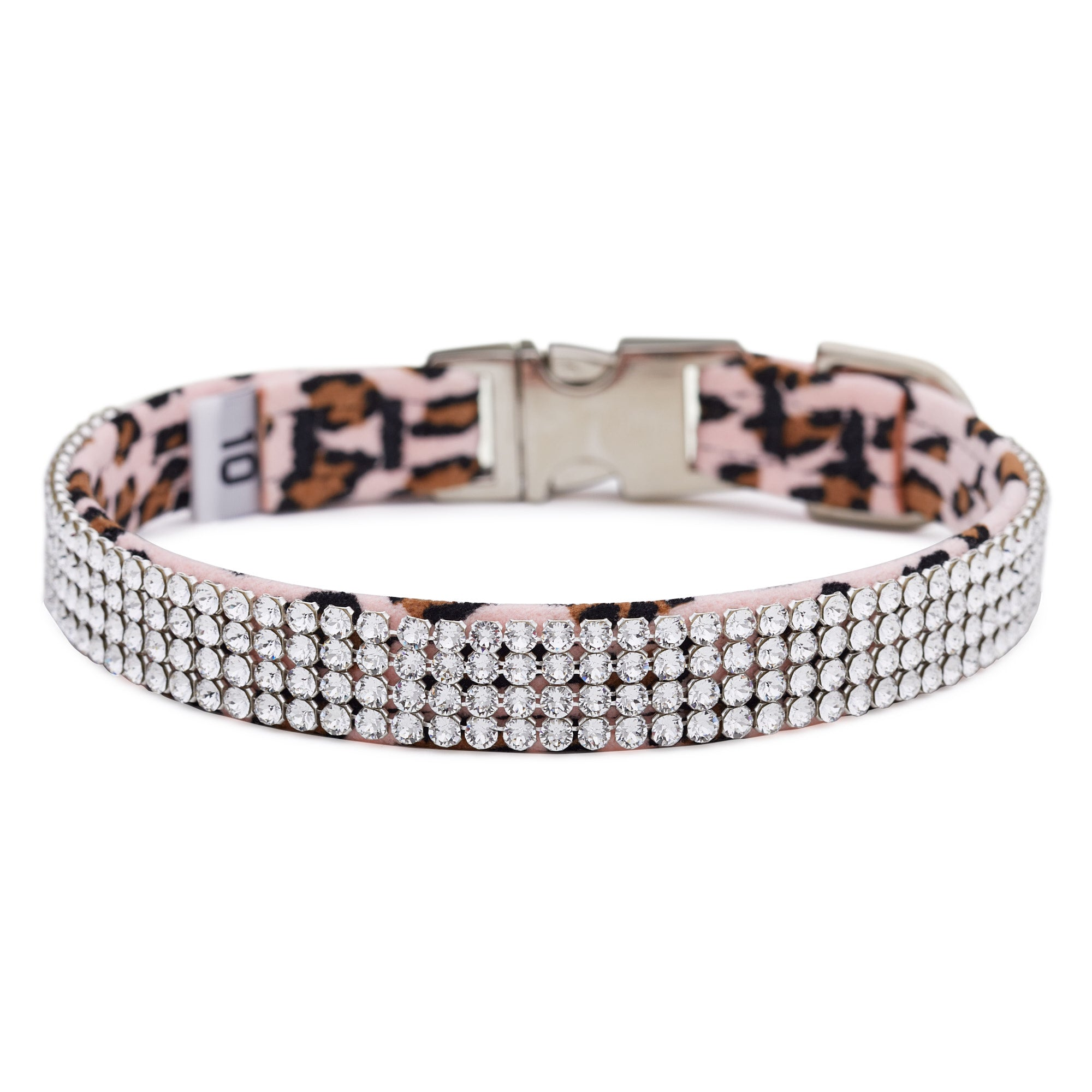 Pink Cheetah 4 Row Giltmore Perfect Fit Collar