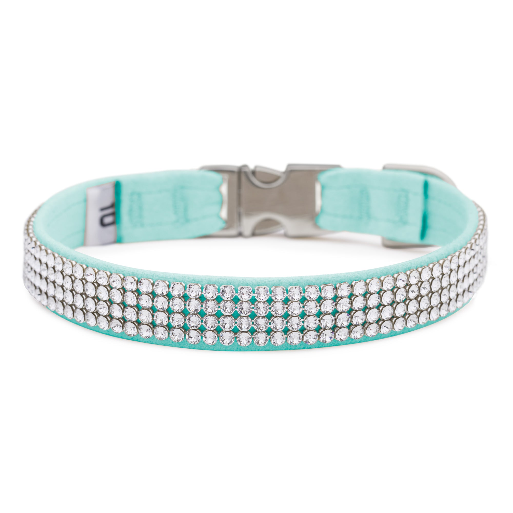 Tiffi Blue 4 Row Giltmore Perfect Fit Collar