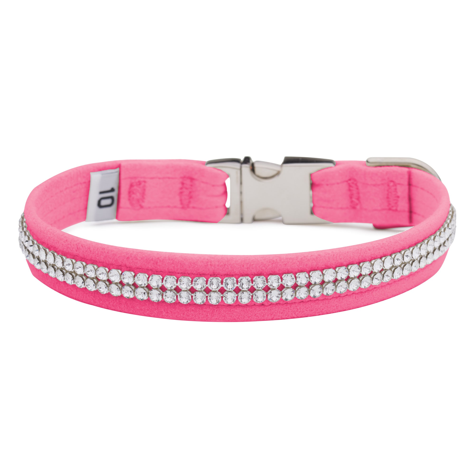 Pink Sapphire 2 Row Giltmore Perfect Fit Collar