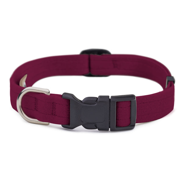 Burgundy Quick Release Collar