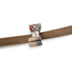Scotty Leash Fawn Plaid Big Bow