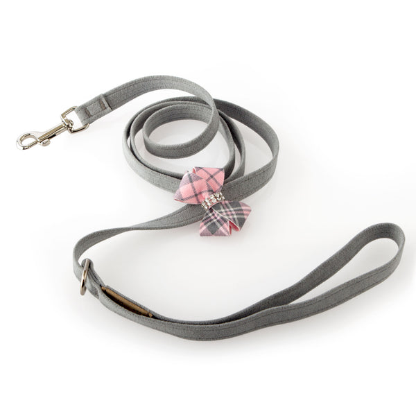 Scotty Leash Puppy Pink Plaid Nouveau Bow