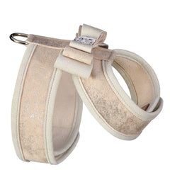 Champagne Glitzerati Really Big Bow Tinkie Harness with Doe Trim
