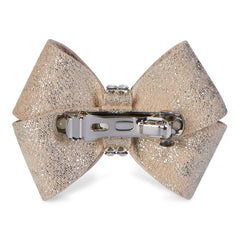 Champagne Glitzerati Single Nouveau Bow Hair Bow