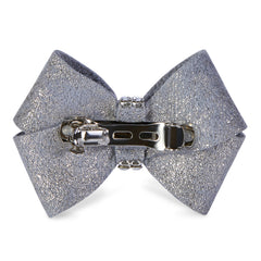 Platinum Glitzerati Single Nouveau Bow Hair Bow