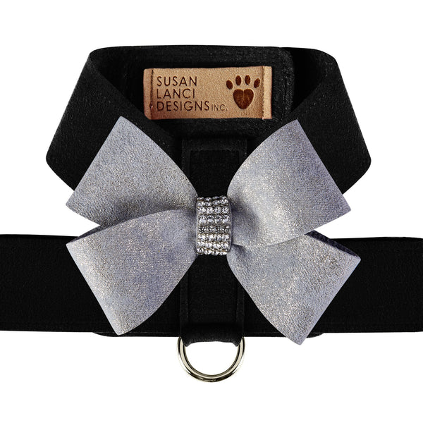 Black Tinkie Harness with Platinum Glitzerati Nouveau Bow