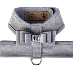 Platinum Glitzerati Really Big Bow Tinkie Harness with Platinum Trim