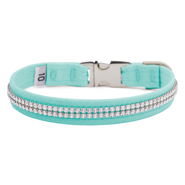 Tiffi Blue 2 Row Giltmore Perfect Fit Collar
