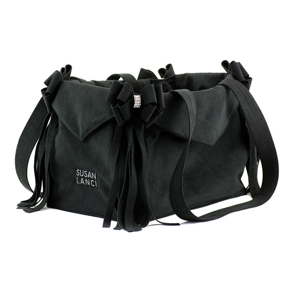 Luxury Carrier Black with Fringe