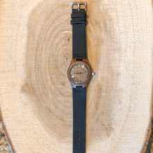 SunFly Walnut Wood Timepiece with Leather Strap - Women's
