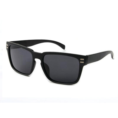 Black Sport Sunglasses with Black Bamboo and Dark Polarized Lens