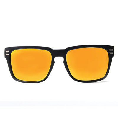 SunFly Sport Style Sunglasses with Bamboo Arms and Yellow Mirror Lens