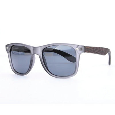 SunFly Grey Frame and Dark Bamboo Sunglasses with Grey Polarized Lens
