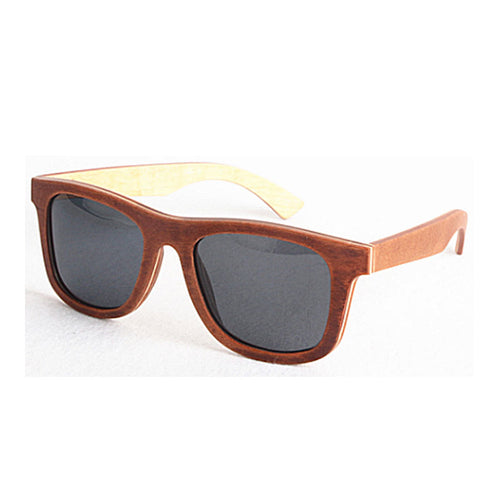 Brown Re-purposed Skateboard Sunglasses with Brown Lens
