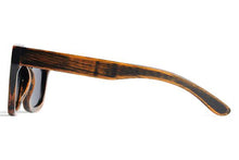 SunFly Distressed Brown Bamboo Sunglasses with Grey Polarized Lens