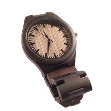 SunFly Full Ebony Wood Timepiece