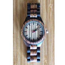 SunFly Zebrawood and Ebony Full Wood Watch