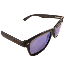 Black Frame with Black Bamboo with Blue Mirror Lens