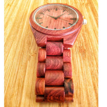SunFly 100% Red Sandalwood Full Wood Timepiece