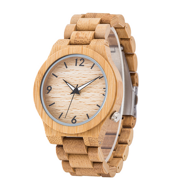 SunFly Natural Grain Full Bamboo Women's Timepiece