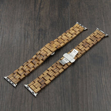 SunFly Apple Watch Wood Band - Zebra Wood