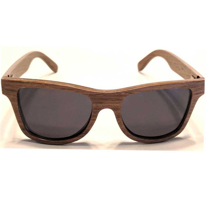 Dark brown walnut wood sunglasses