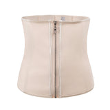 Corset Body Shaper Latex Waist Trainer Zipper Shapewear Women