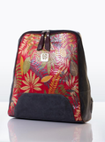 Floral Print Leather Backpack For Women