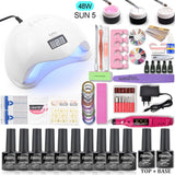 SUNX Plus UV LED Lamp Dryer With Nail Gel Polish Kit  Nail Set 80W/54W Gel Nail Polish For Nail Art Tools
