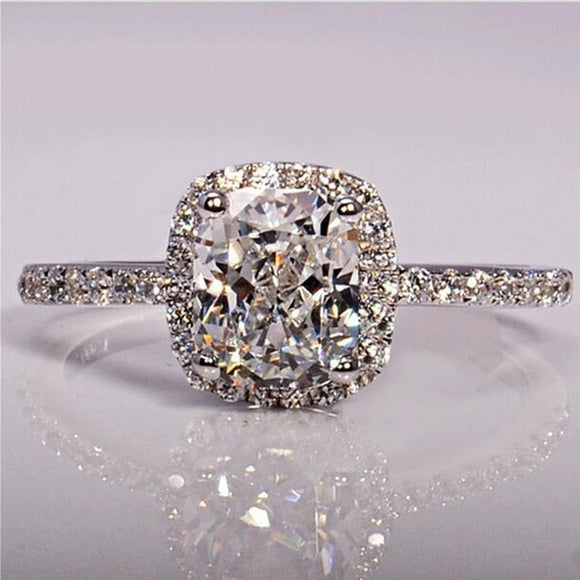Engagement Rings 925 Sterling Silver Rings Bridal Wedding Jewelry for Women
