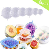 Silicone Stretch Lids Reusable Seal Lids Food Covers to Keep Food Fresh for Bowls Mugs Dishes Kitchen Cookware