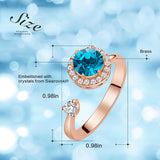 Adjustable Rings for Women Birthday Gift Rose Gold Ring Embellished with Crystal from Swarovski Birthstone Jewellery