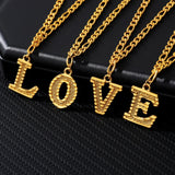 Fashion Gold Stainless Steel Letter Anklet Women